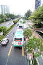 Shenzhen china baoan avenue in stadium next to the traffic Stock Photo
