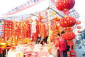 Shenzhen china: buying and selling the spring fest Stock Image
