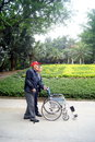 Shenzhen china care old man on may xixiang park an elderly is Royalty Free Stock Photography