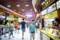 Shenzhen china delicious food street landscape luohu dongmen commercial there is a rich local snacks attracted many visitors taste Royalty Free Stock Photography