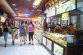 Shenzhen china delicious food street landscape luohu dongmen commercial there is a rich local snacks attracted many visitors taste Stock Photo