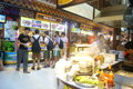 Shenzhen china delicious food street landscape luohu dongmen commercial there is a rich local snacks attracted many visitors taste Royalty Free Stock Image