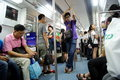 Shenzhen china people take the subway on july go home from work Royalty Free Stock Photo