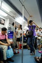 Shenzhen china people take the subway on july go home from work Royalty Free Stock Image