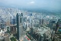 Shenzhen city in day light bird view upper point of Stock Photos
