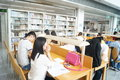 Shenzhen library, readers in reading Royalty Free Stock Photo