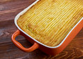 Shepherd s pie delicious home made traditional british home cooking baked mashed potatoes and ground beef with vegetables Stock Photo