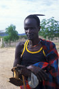 Shepherd Turkana (Kenya) Royalty Free Stock Photo