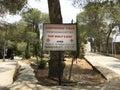 Shepherds Field sign, Bethlehem, Palestine Royalty Free Stock Photo