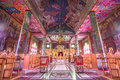 Shepherds' Fields Church interior at Beit Sahour, Bethlehem - Is Royalty Free Stock Photo