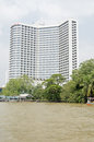 Sheraton hotel bangkok thailand october view from the chao phraya river of the luxury in the centre of Stock Image