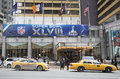 Sheraton new york welcomes visitors during super bowl xlviii week in manhattan january on january Stock Image