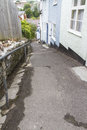 Sherborne lane lyme regis steep walkway in dorset england united kingdom Stock Image