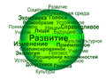 Shere sustainable development terms russian language as defined development studies field economic ecologic social viable bearable Royalty Free Stock Photo