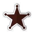 Sherif star medal icon
