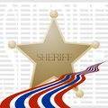 Sheriff badge Royalty Free Stock Images