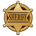 Sheriff Badge Icon Royalty Free Stock Photos