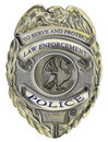 Sheriff law enforcement police badge Royalty Free Stock Photo