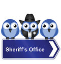 Sheriff office sign Stock Image