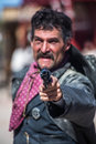 Sheriff points gun Royalty-vrije Stock Foto's