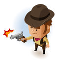 Sheriff with revolver vector illustration Stock Photo