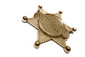 Sheriff s star a wild west isolated on a white background Stock Photography