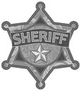 Sheriff star Stock Photography