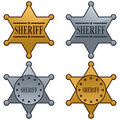 Sheriff Star Badge Set Royalty Free Stock Images