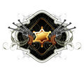 Sheriff star with guns ornate frame Royalty Free Stock Photo