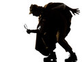 Sherlock holmes silhouette Royalty Free Stock Photo