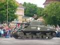 Sherman firefly in polish colors june military picnic the army training center the city of poznan heavy military vehicles during Royalty Free Stock Image