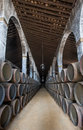 Sherry barrels in jerez bodega spain old Stock Photography