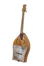 Sherter kazakh and ancient turkic stringed musical instrument isolated on white background Royalty Free Stock Image