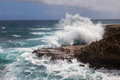 Shete boka national park parkwith wild seas on curacao island caribbean Stock Photo