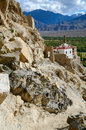 Shey monastery and palace complex in leh in ladakh india Royalty Free Stock Images