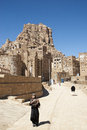 Shibam village near sanaa in yemen street scene Royalty Free Stock Images