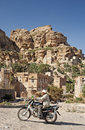 Shibam village near sanaa in yemen street scene Royalty Free Stock Photos