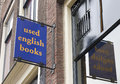 Shield book shop selling used english books Royalty Free Stock Photography
