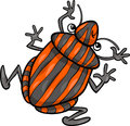 Shield bug insect cartoon character illustration of funny Royalty Free Stock Photo