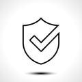Shield check mark logo icon design template element