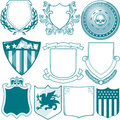 Shield collection clip art of various types of Royalty Free Stock Photography