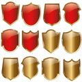Shield design set - vector