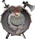 Shield with griffins. Royalty Free Stock Photo