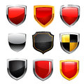 Shield icon set vector illustration Stock Image