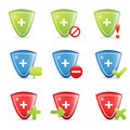 Shield icons Royalty Free Stock Photo