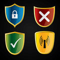 Shield icons for security Royalty Free Stock Photography