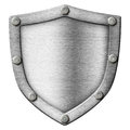Shield made from metal Royalty Free Stock Photo