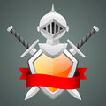 Shield medieval knight helmet crossed swords illustration format eps Royalty Free Stock Images