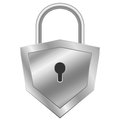 Shield padlock isolated vector shape Stock Photos