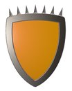 Shield with prickles Stock Photo